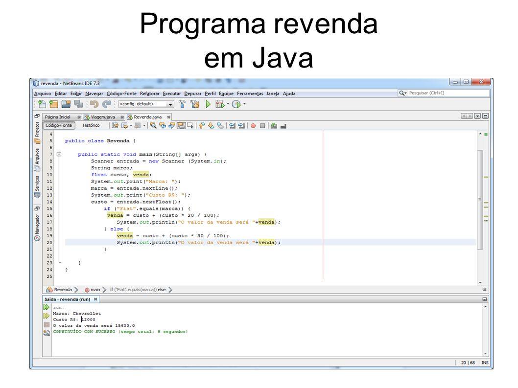 Programa revenda em Java