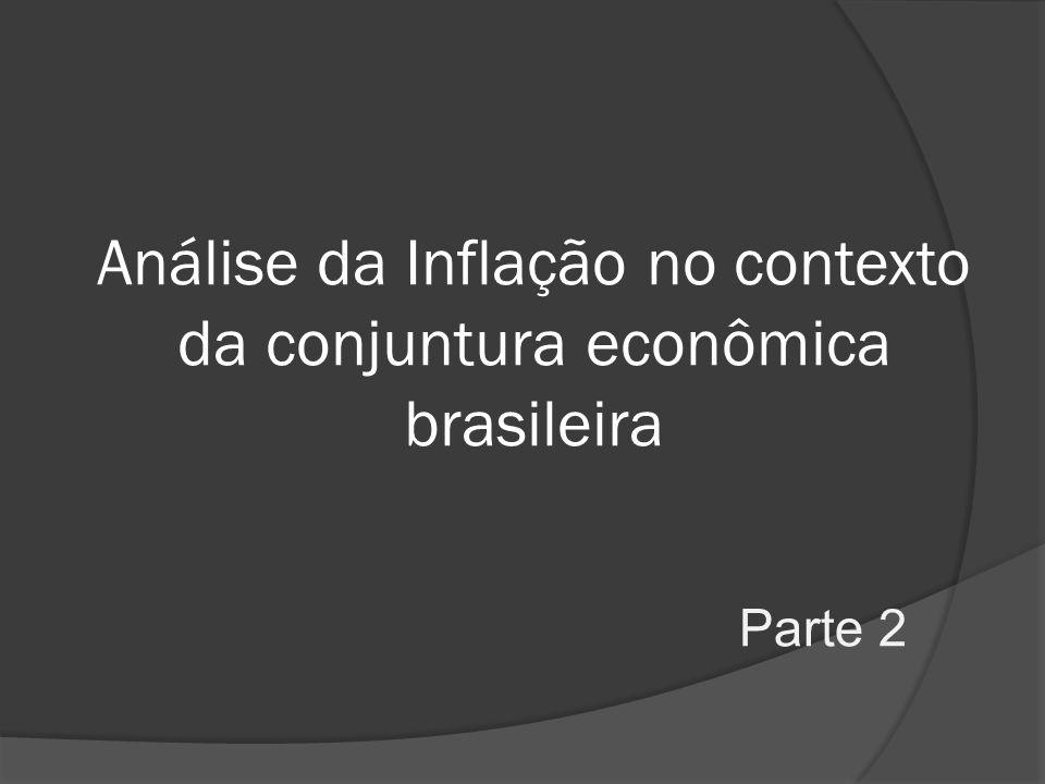 Análise da Inflação no contexto da conjuntura econômica brasileira Parte 2