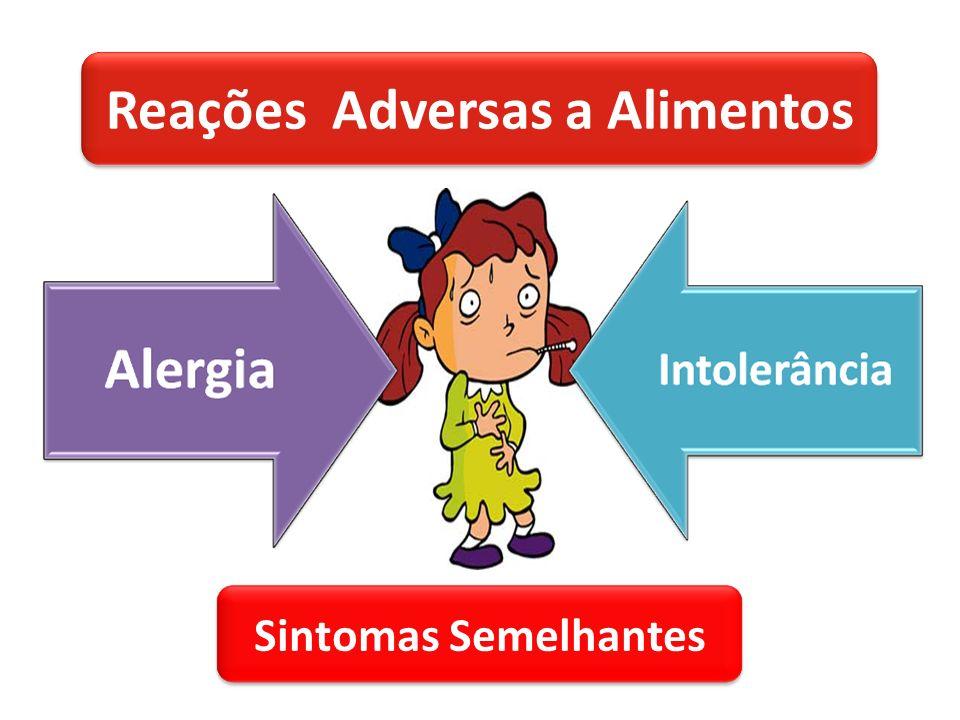 Reações Adversas a Alimentos Sintomas Semelhantes