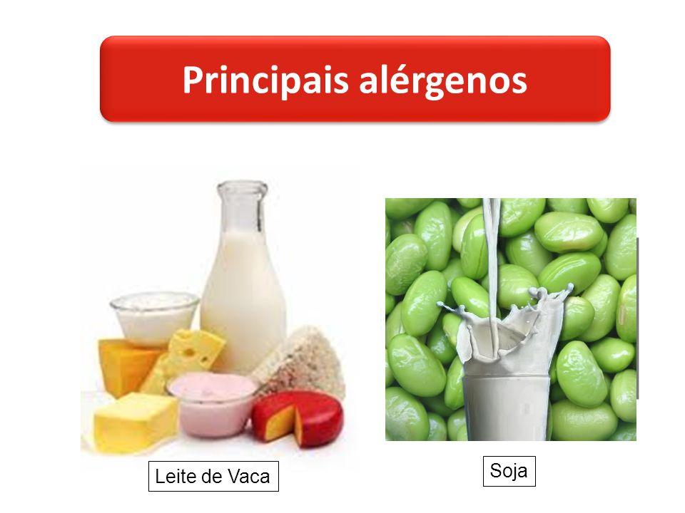 Leite de Vaca Soja Principais alérgenos