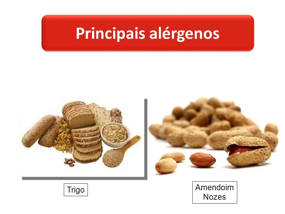 Trigo Amendoim Nozes Principais alérgenos