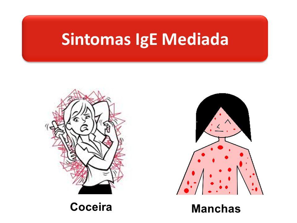 Sintomas IgE Mediada Coceira Manchas