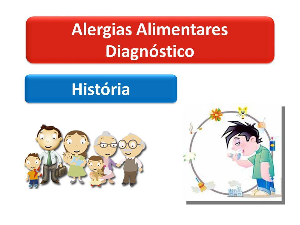 Alergias Alimentares Diagnóstico Alergias Alimentares Diagnóstico História