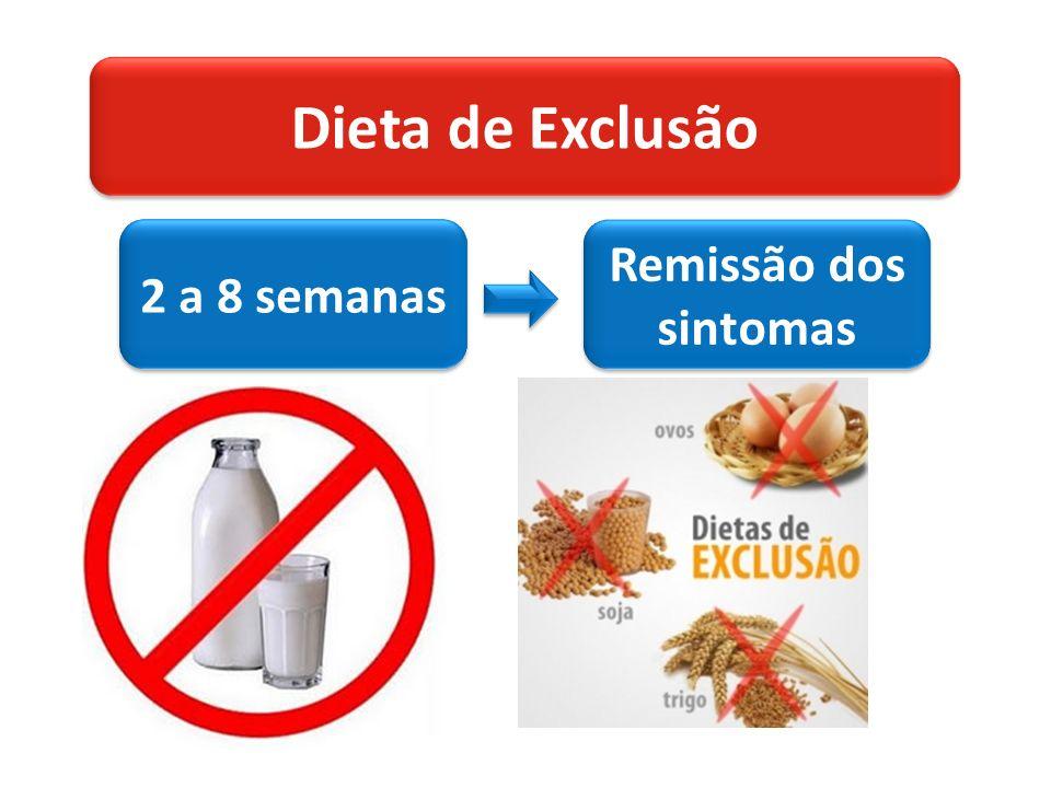 Dieta de Exclusão 2 a 8 semanas Remissão dos sintomas