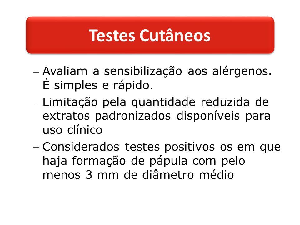 – Avaliam a sensibilização aos alérgenos.É simples e rápido.