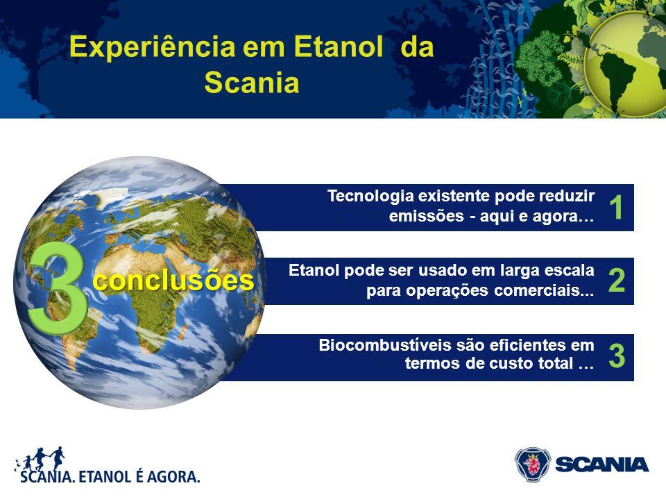 1 Tecnologia existente pode reduzir emissões - aqui e agora… 2 Etanol pode ser usado em larga escala para operações comerciais... 3 Biocombustíveis sã