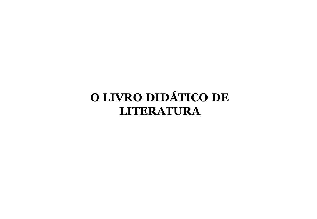 O LIVRO DIDÁTICO DE LITERATURA