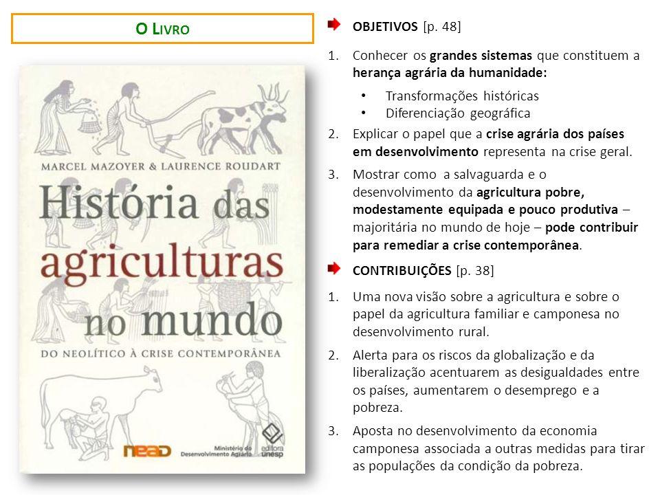 OBJETIVOS [p. 48] 1.Conhecer os grandes sistemas que constituem a herança agrária da humanidade: Transformações históricas Diferenciação geográfica 2.