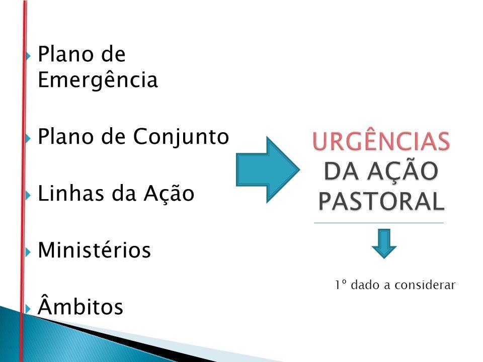 Plano de Emergência Plano de Conjunto Linhas da Ação Ministérios Âmbitos 1º dado a considerar