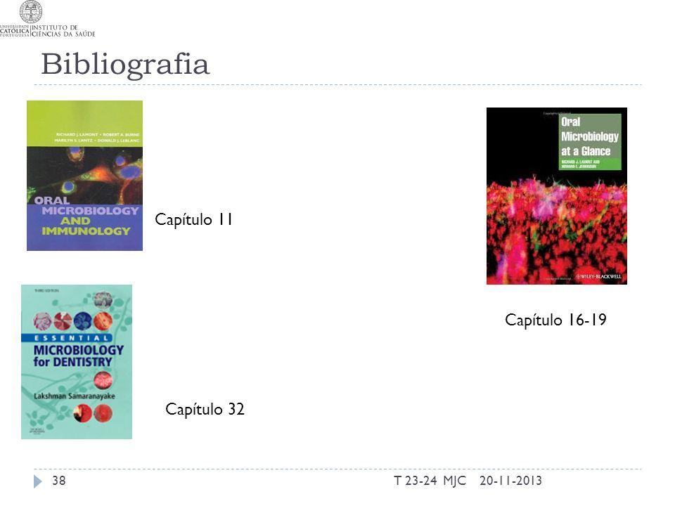 Bibliografia T 23-24 MJC3820-11-2013 Capítulo 11 Capítulo 32 Capítulo 16-19