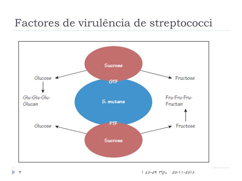 Factores de virulência de streptococci 20-11-2013T 23-24 MJC9