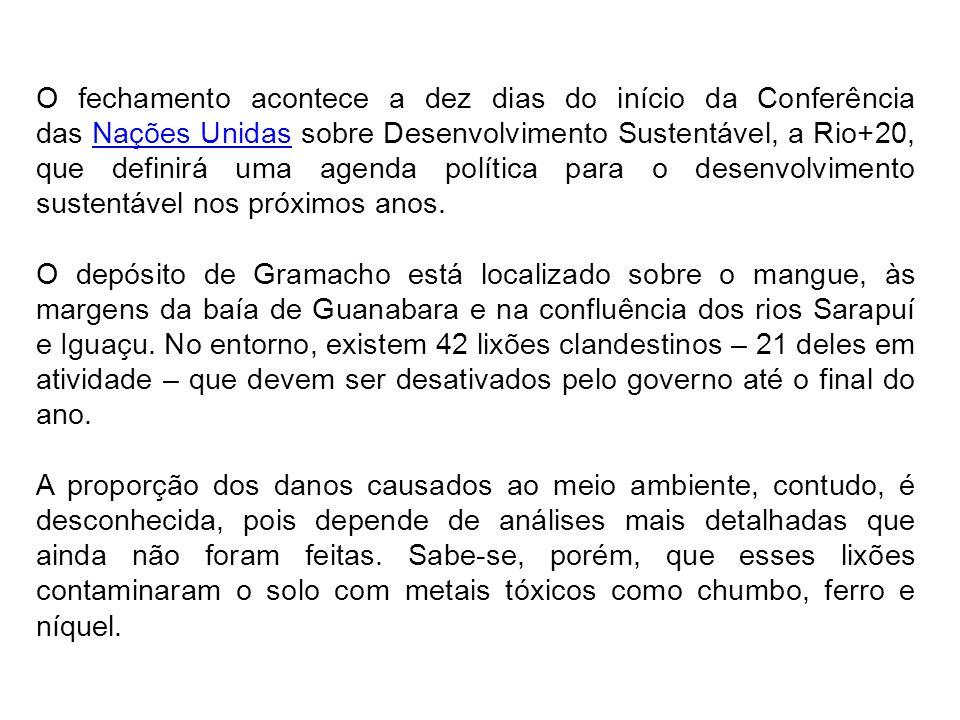 O fechamento acontece a dez dias do início da Conferência das Nações Unidas sobre Desenvolvimento Sustentável, a Rio+20, que definirá uma agenda polít