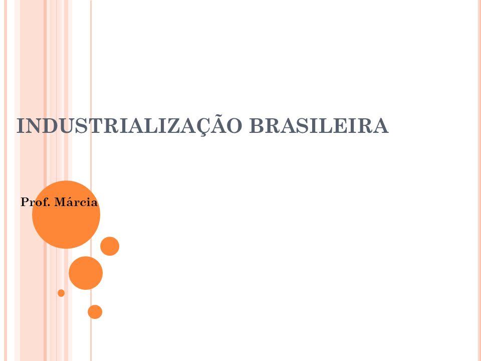 INDUSTRIALIZAÇÃO BRASILEIRA Prof. Márcia