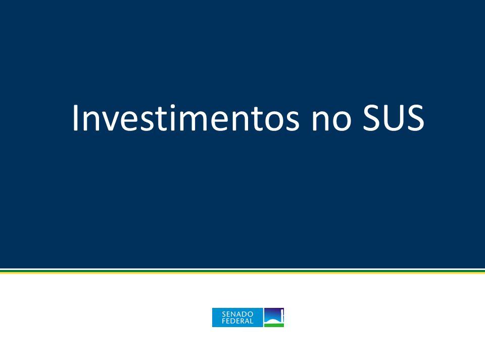 Investimentos no SUS