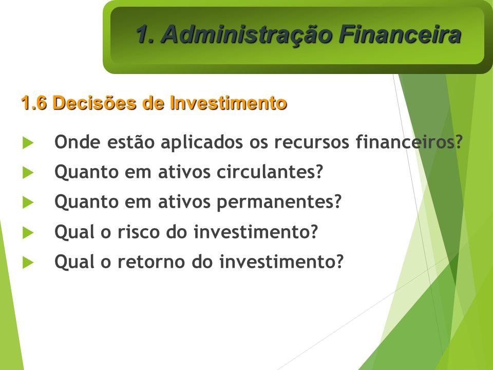 Onde estão aplicados os recursos financeiros? Quanto em ativos circulantes? Quanto em ativos permanentes? Qual o risco do investimento? Qual o retorno