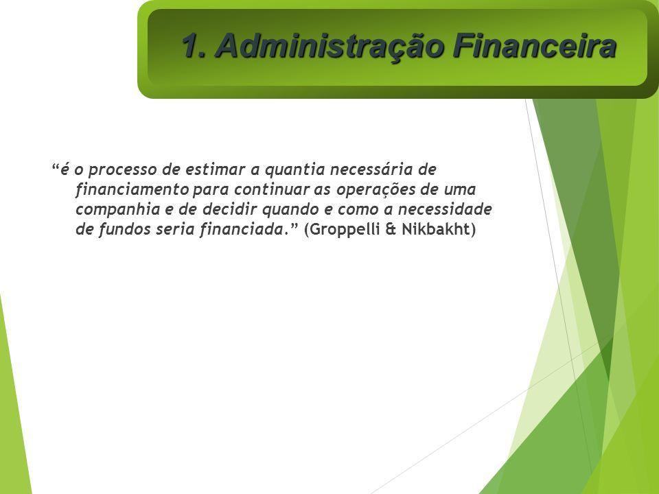 é o processo de estimar a quantia necessária de financiamento para continuar as operações de uma companhia e de decidir quando e como a necessidade de