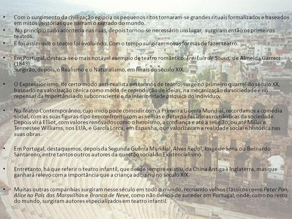 Com o surgimento da civilização egípcia os pequenos ritos tornaram-se grandes rituais formalizados e baseados em mitos (histórias que narram o sagrado