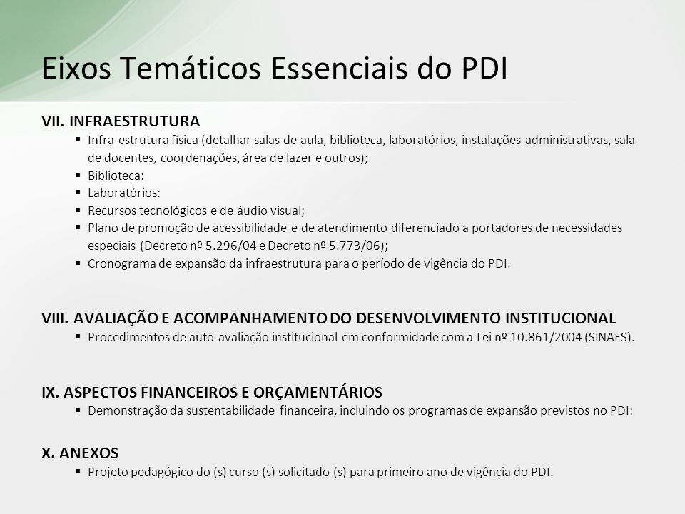 VII. INFRAESTRUTURA Infra-estrutura física (detalhar salas de aula, biblioteca, laboratórios, instalações administrativas, sala de docentes, coordenaç