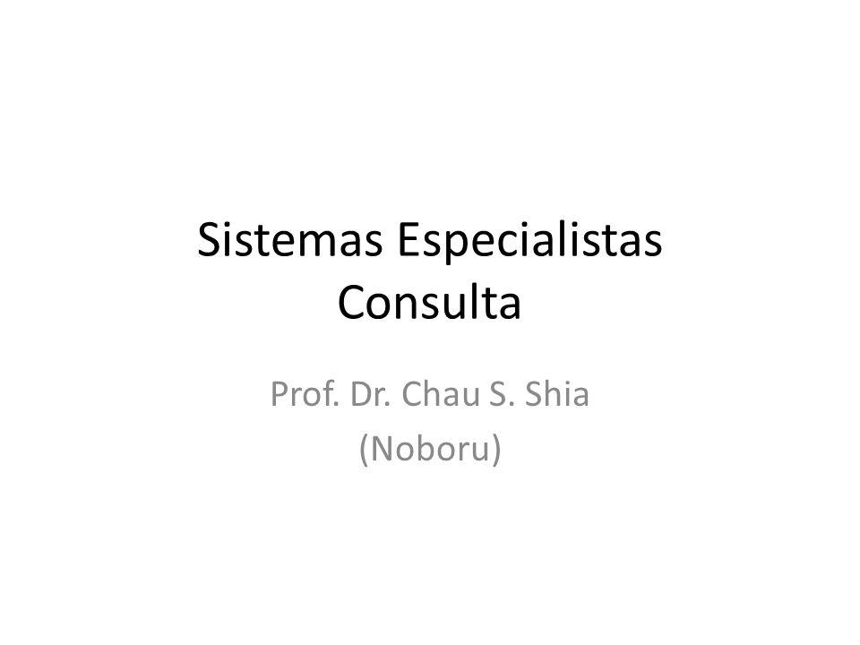 Sistemas Especialistas Consulta Prof. Dr. Chau S. Shia (Noboru)