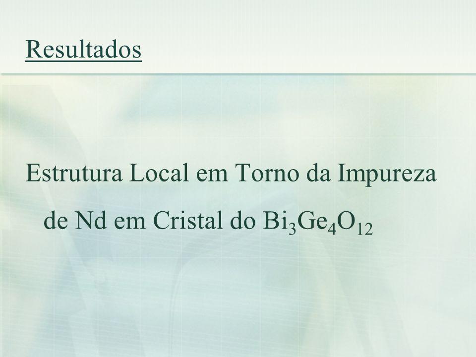 Resultados Estrutura Local em Torno da Impureza de Nd em Cristal do Bi 3 Ge 4 O 12