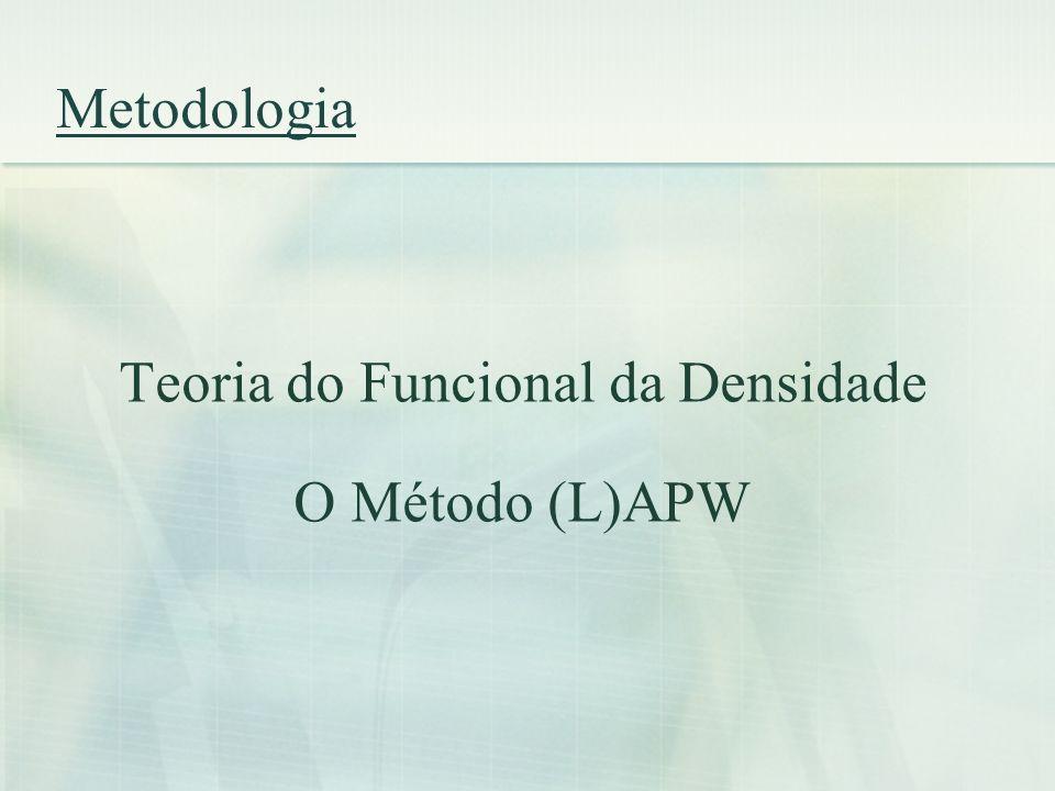 Metodologia Teoria do Funcional da Densidade O Método (L)APW