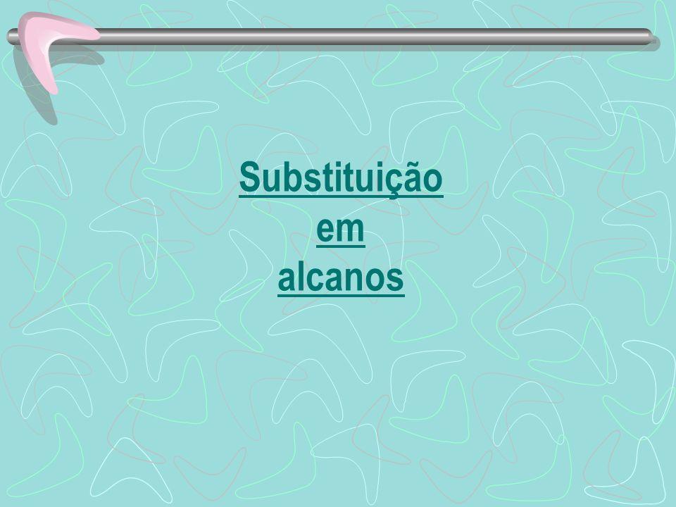 Substituição em alcanos
