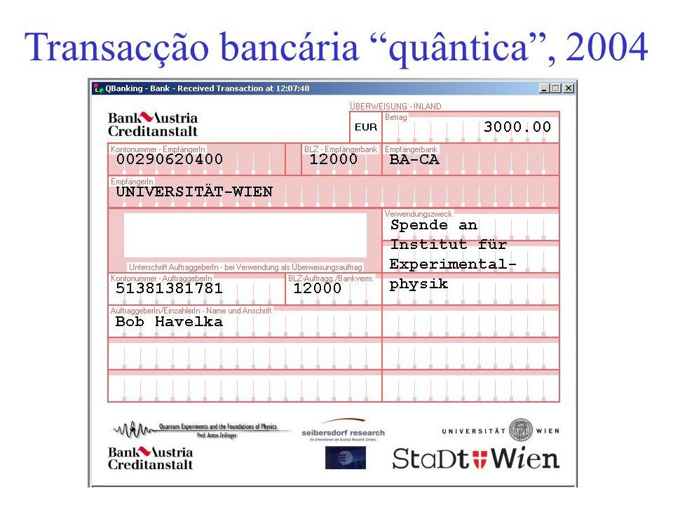 Transacção bancária quântica, 2004