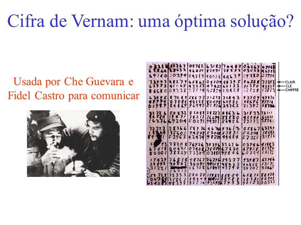 Cifra de Vernam: uma óptima solução? Usada por Che Guevara e Fidel Castro para comunicar