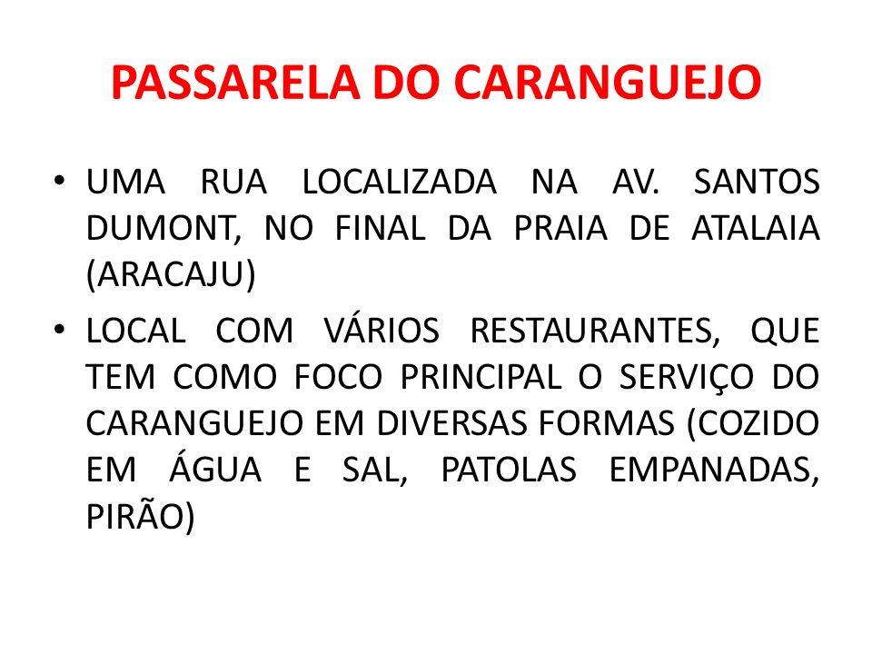 PASSARELA DO CARANGUEJO UMA RUA LOCALIZADA NA AV.