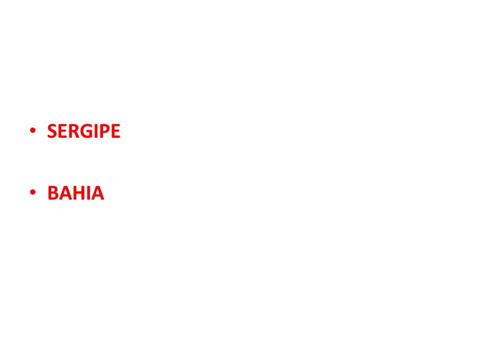 SERGIPE BAHIA