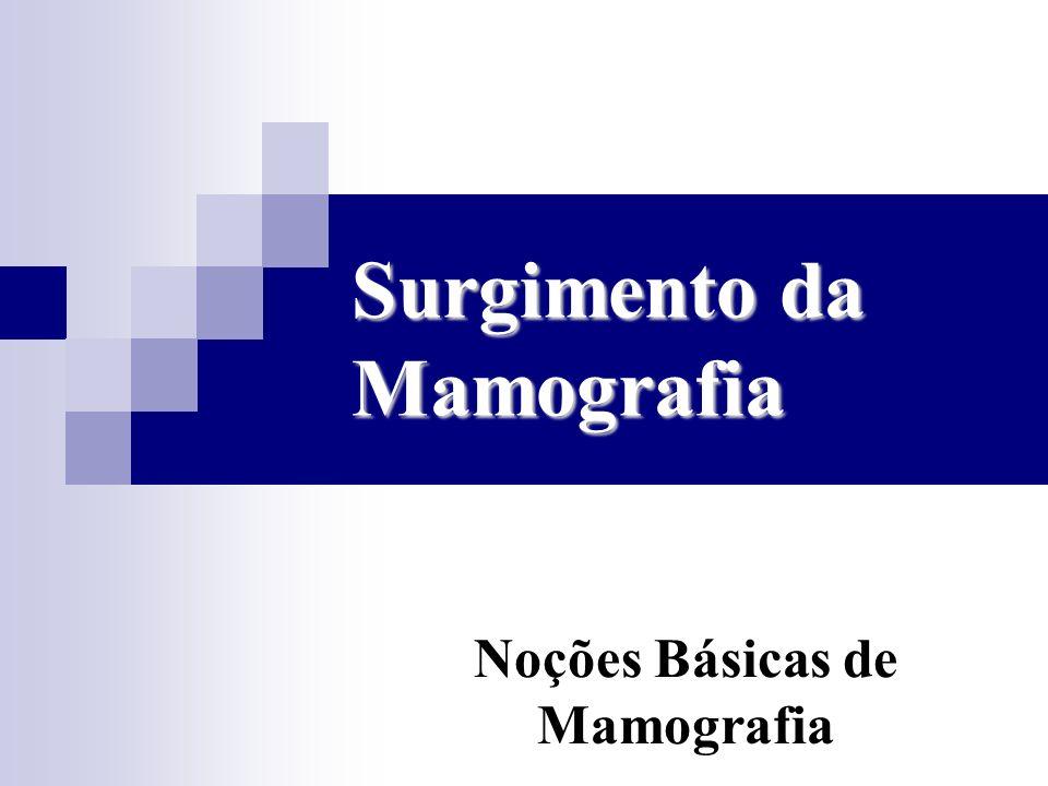 Surgimento da Mamografia Noções Básicas de Mamografia