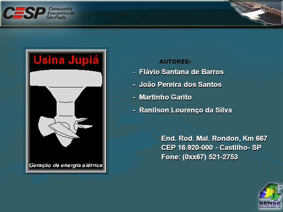 7 - Flávio Santana de Barros - João Pereira dos Santos - Martinho Garito - Ranilson Lourenço da Silva End. Rod. Mal. Rondon, Km 667 CEP 16.920-000 - C