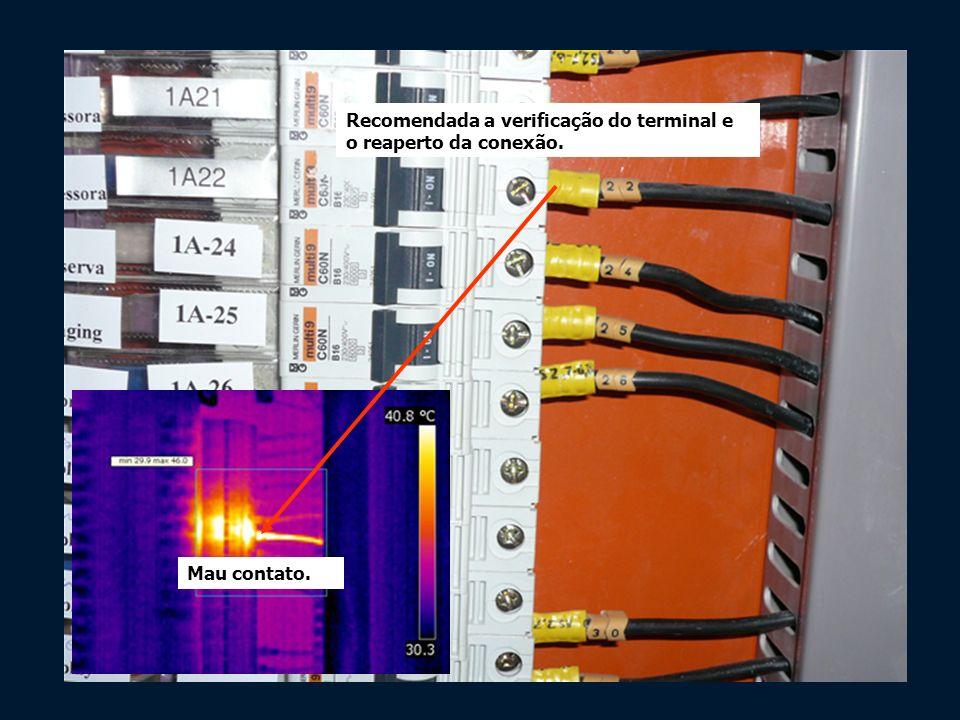 Recomendada a verificação do terminal e o reaperto da conexão.