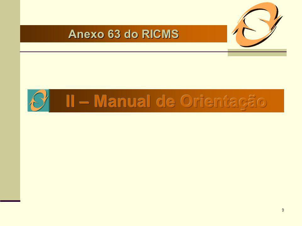 9 Anexo 63 do RICMS