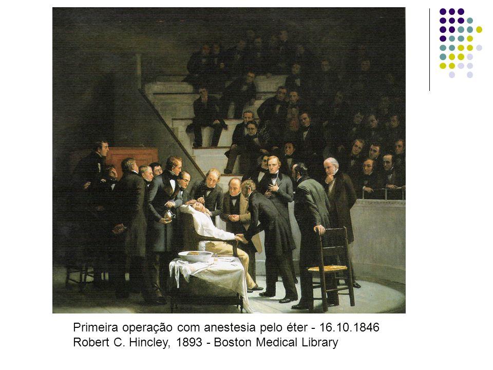 Primeira operação com anestesia pelo éter - 16.10.1846 Robert C. Hincley, 1893 - Boston Medical Library