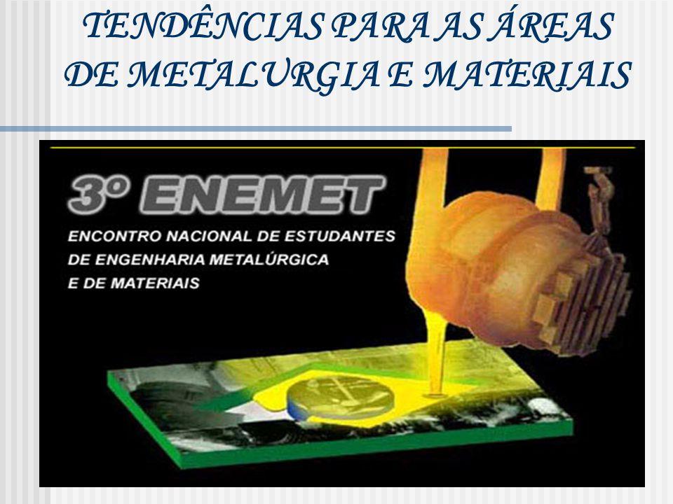TENDÊNCIAS PARA AS ÁREAS DE METALURGIA E MATERIAIS