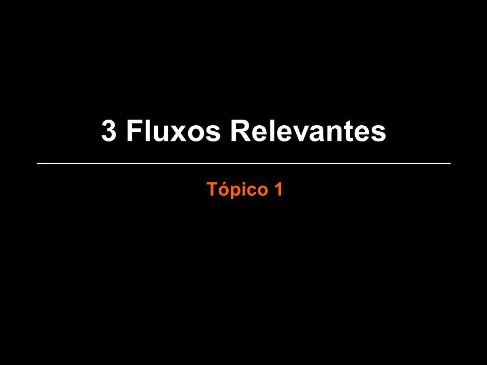 3 Fluxos Relevantes Tópico 1