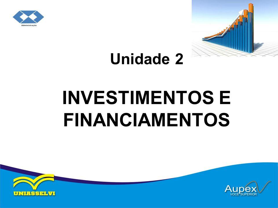 Unidade 2 INVESTIMENTOS E FINANCIAMENTOS