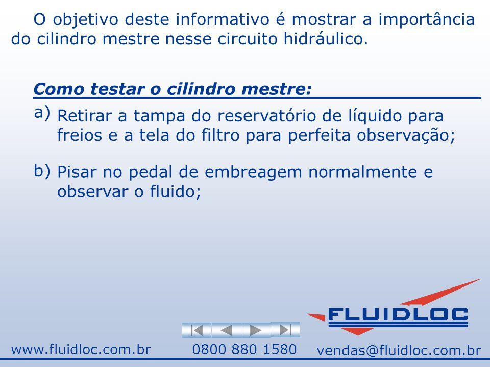 www.fluidloc.com.br0800 880 1580 O objetivo deste informativo é mostrar a importância do cilindro mestre nesse circuito hidráulico.