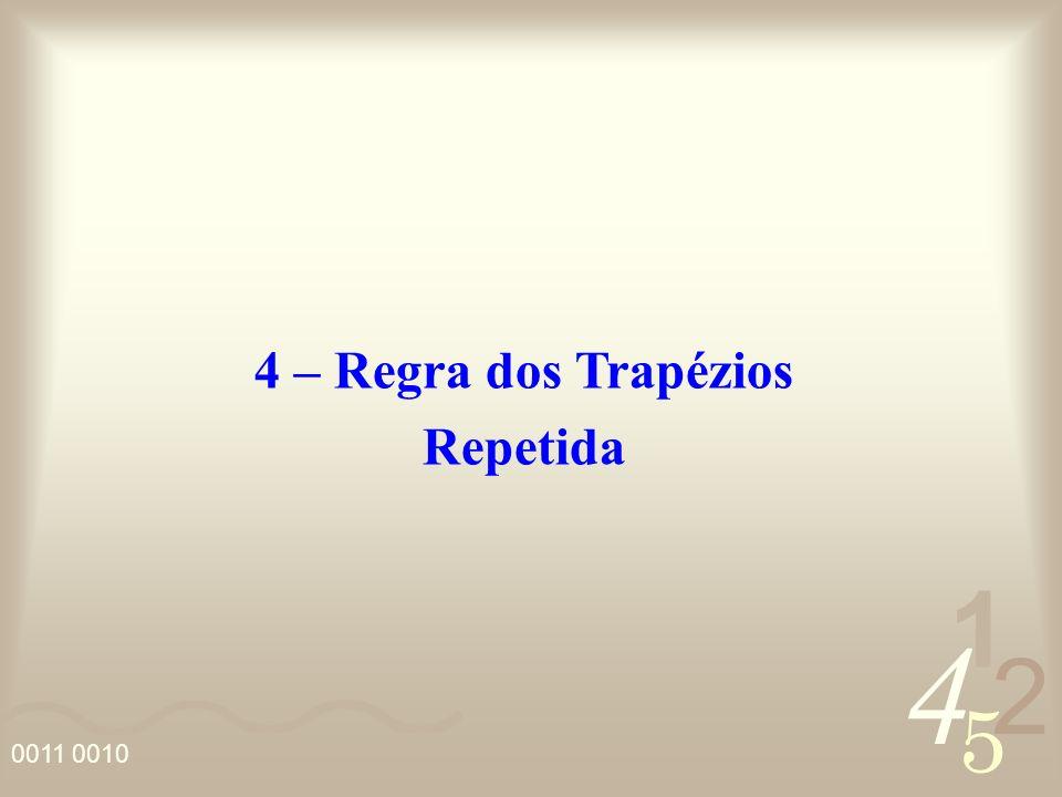 4 2 5 1 0011 0010 4 – Regra dos Trapézios Repetida