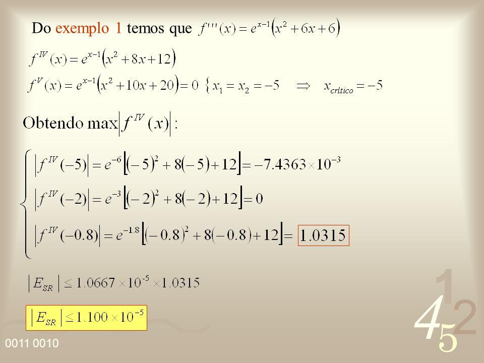 4 2 5 1 Do exemplo 1 temos que