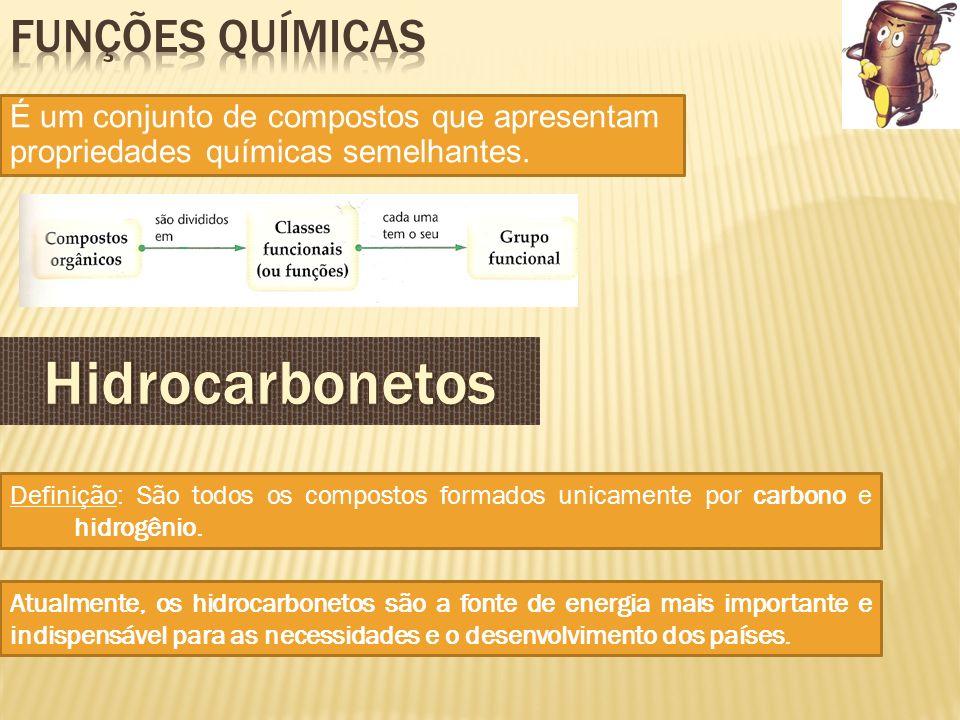 É um conjunto de compostos que apresentam propriedades químicas semelhantes. Definição: São todos os compostos formados unicamente por carbono e hidro
