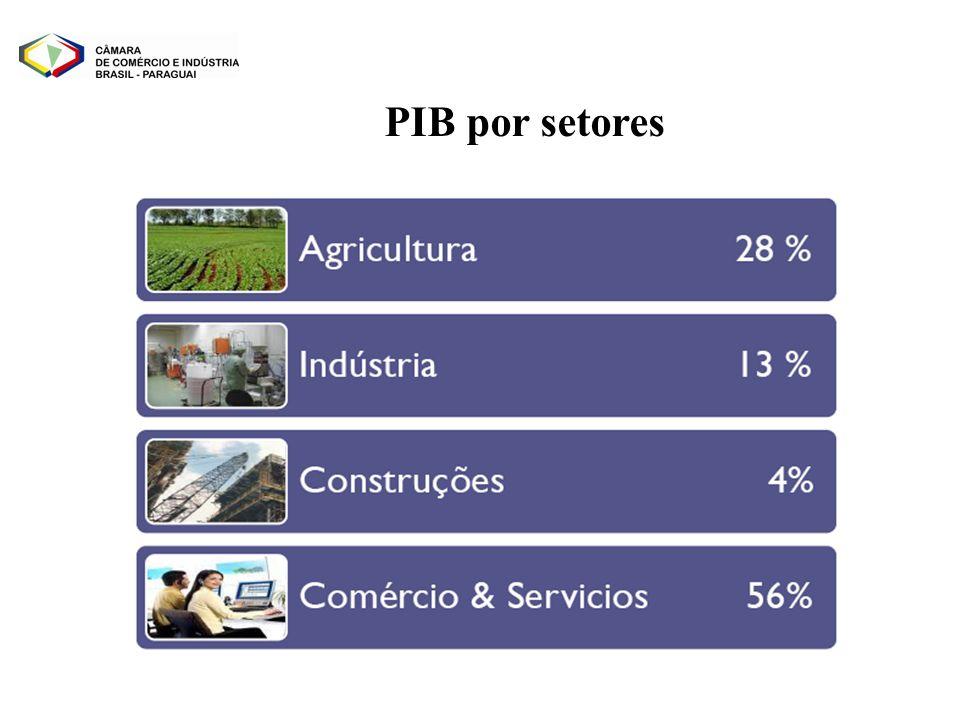 PIB por setores