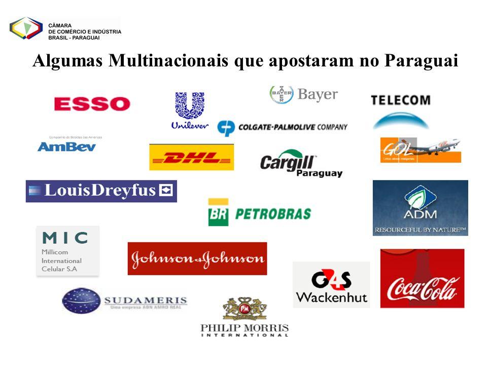 Algumas Multinacionais que apostaram no Paraguai