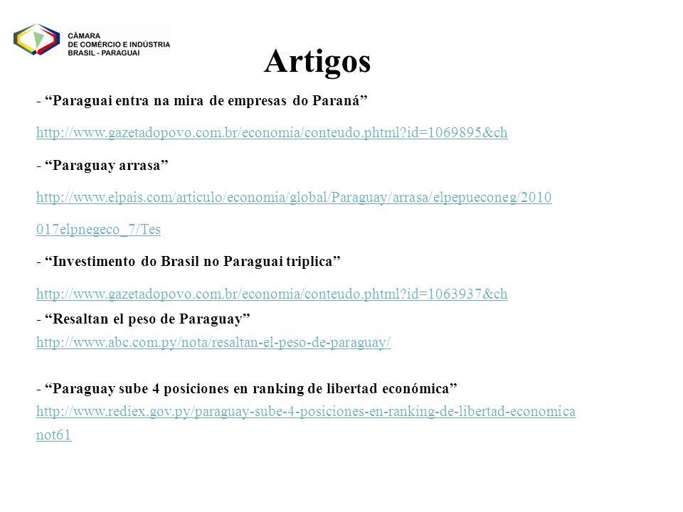 - Paraguai entra na mira de empresas do Paraná http://www.gazetadopovo.com.br/economia/conteudo.phtml?id=1069895&ch - Paraguay arrasa http://www.elpai