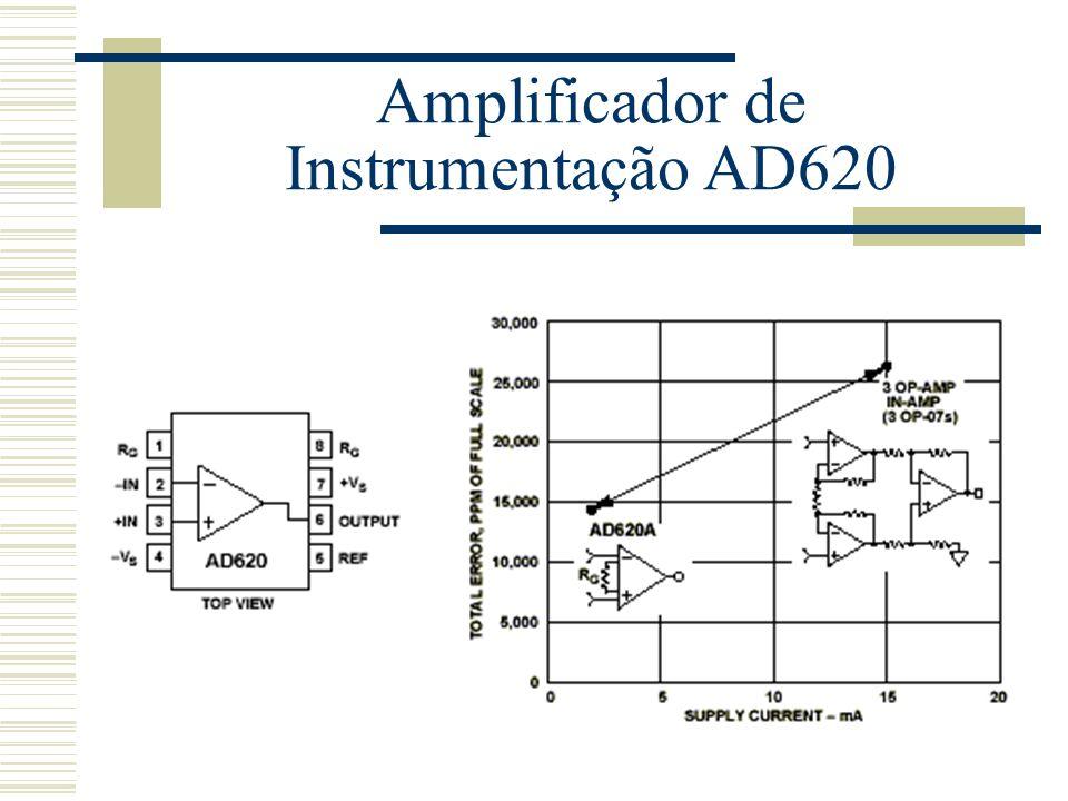 Amplificador de Instrumentação AD620