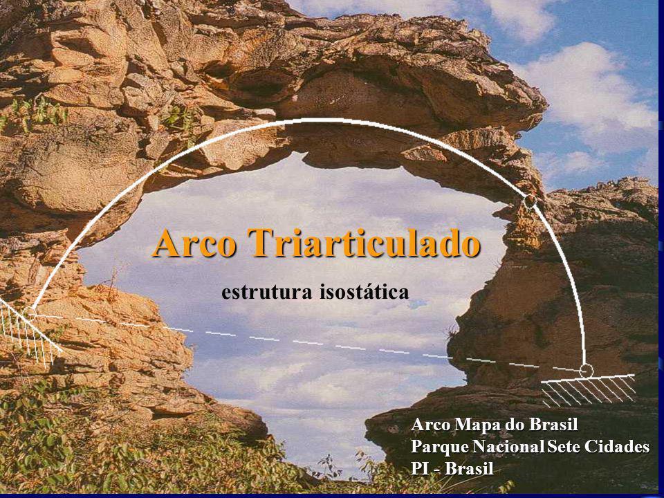 Arco Triarticulado Arco Mapa do Brasil Parque Nacional Sete Cidades PI - Brasil estrutura isostática