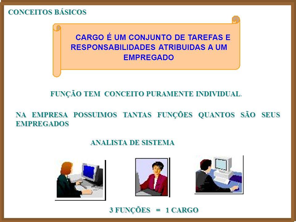 CONCEITOS BÁSICOS FUNÇÃO TEM CONCEITO PURAMENTE INDIVIDUAL FUNÇÃO TEM CONCEITO PURAMENTE INDIVIDUAL.