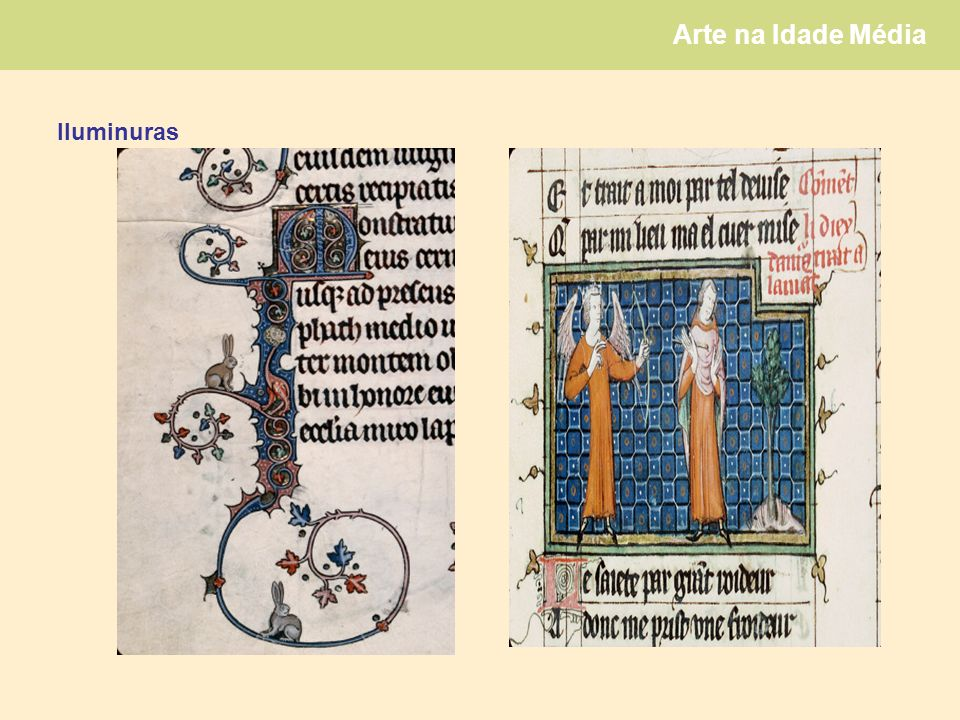 Arte na Idade Média Iluminuras