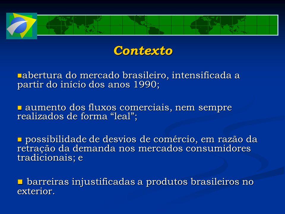 Contexto abertura do mercado brasileiro, intensificada a partir do início dos anos 1990; abertura do mercado brasileiro, intensificada a partir do iní